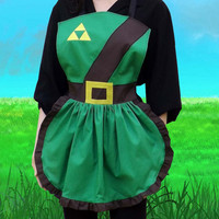 Link Apron Cosplay Costume Legend of Zelda inspired Geek triforce