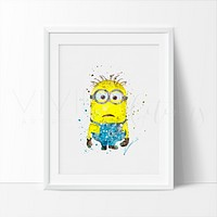 Minion 2 Watercolor Art Print