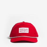 Nylon Snapback Box Logo Hat in Red