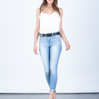 Simple Cropped Jeans