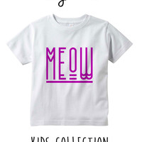 Meow Heather Grey / White Toddler Kids T Shirt Clothes Gift