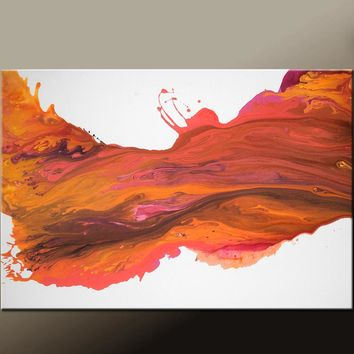36X24 Abstract Canvas Art Contemporary Painting by Destiny Womack - dWo - Sunset