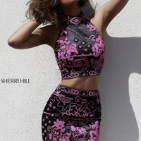 2014 Sherri Hill Two Piece Short Homecoming Dress 32024