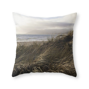 Society6 Dune Grass By Th Throw Pillow