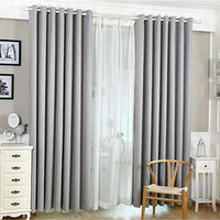 Grommet Window Curtain Bed Room Valances Window Curtains Shade Traverse Pull purdah Sun Blocked Living Room Curtain