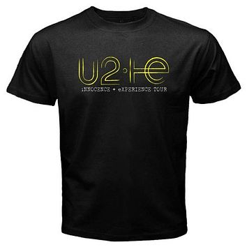 New U2 Innocence Experience Tour Rock Band Mens Black T Shirt Size S To 3Xl