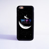 Peter Pan Take me to Neverland  Rubber Case Cover for Apple iPhone 4 4s 5 SE 5s 5c 6 6s Plus