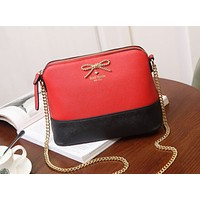 Kate Spade 2018 new shoulder bag bow female bag shell bag messenger bag F0896-1 Red