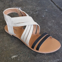 A Two Tone Strappy Sandal