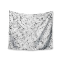 "Will Wild ""Marble"" White Gray Wall Tapestry"