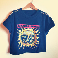 Reworked studded SUBLIME crop shirt by NewSpiritVintage on Etsy