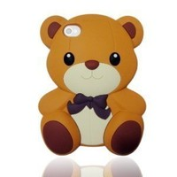 Amazon.com: Best2buy365 3D Brown Cute Teddy Bear Soft Silicone Silicon Skin Case Cover for iPhone 5 5G 5th: Cell Phones & Accessories