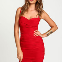 SWEETHEART WRAPPED RUCHE DRESS