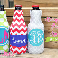Personalized Monogrammed Bottle Koozie