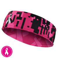 Digital camo pink black Headband