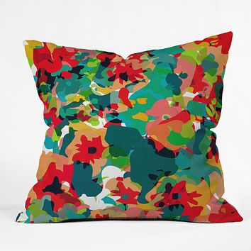 Rebecca Allen All For Flowers Throw Pillow