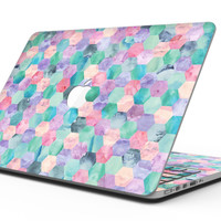 Purple Pink and Green Watercolor Hexagon Pattern - MacBook Pro with Retina Display Full-Coverage Skin Kit