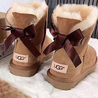 UGG Women Trending Fashion Wool Snow Boots-4