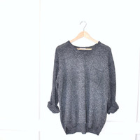 minimalist vintage sweater / 90s knubby grey GRUNGE pull over relaxed fit jumper