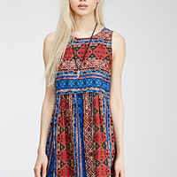 Abstract Tile Print Dress