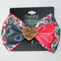 Licensed cool DC  Suicide Squad Harley Quinn Daddy's Lil Monster Costume Hair Bow Clip