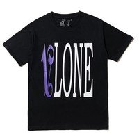 vlone Fashion printed cotton unisex T-shirt short sleeve