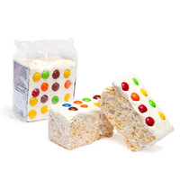 Giant Rice Crispy Treats - Chocolate Candy Buttons: 6-Piece Box