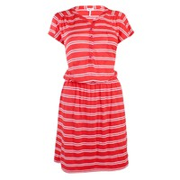 Striped Knit Drop Waist Dress
