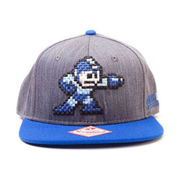 Mega Man Men's  Megaman Baseball Cap Grey