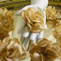 Set of 10, Coffee Filter Roses for weddings, bouquet making, wedding decor, scrapbooking, gifts, crafts