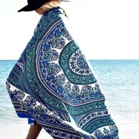 Magical Thinking Blue Mandala Boho Bohemian Tapestry