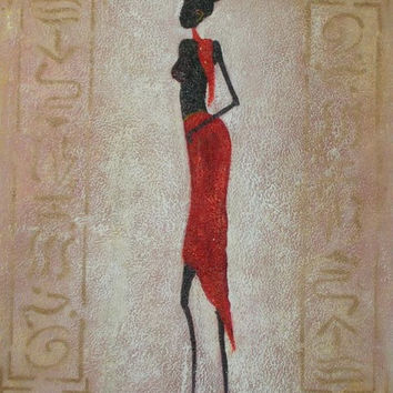 African Beauty II Oil Painting