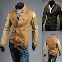 Vintage Military Design Men Fashion Jacket
