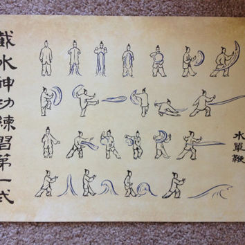 Avatar the Last Airbender - Water Scroll Poster