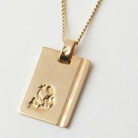 Gold Star Sign Necklace Virgo