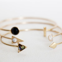 Geometric Bangle Set