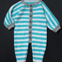 Crochet baby salopette /overall pattern three sizes