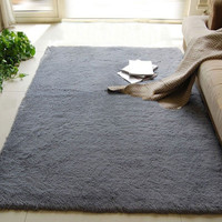 New Arrival Fluffy Anti-skid Shaggy Area Rug Home Bedroom Living Room Floor Mat 3 Colors Free Shipping