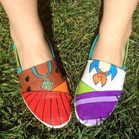 Scooby Doo hand painted canvas shoes