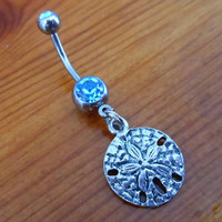 Belly Button Ring - Sanddollar Belly Button Ring
