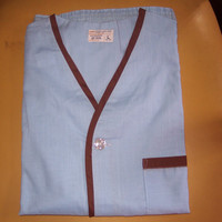 Vintage   Towncraft blue and brown mens boxer pajamas  new  size  Large