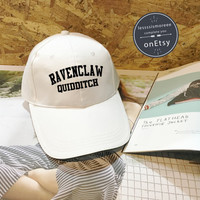 SALE !! Ravenclaw Quidditch Baseball Hat Harry Potter Cap, Baseball Cap Low Profile Dad Hat Baseball Hat Black/White Instagram Tumblr