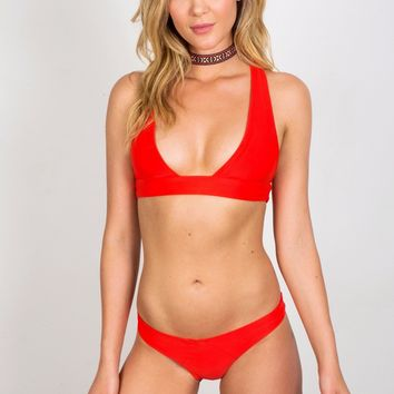 Soah Alice Red Bikini Top