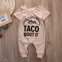 2017 Newborn baby clothes Letter Hamburg Rompers Infant summer baby rompers Short sleeve one-pieces jumpsuit baby girl clothing