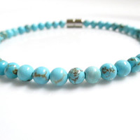 Turquoise Bracelet With A Magnetic Clasp