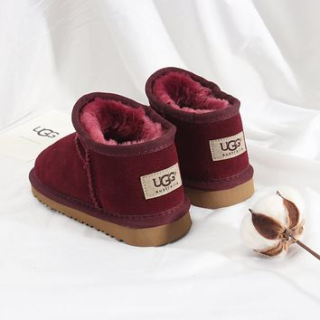 UGG Girls Boys Children Baby Toddler Kids Child Fashion Casual Boots-3
