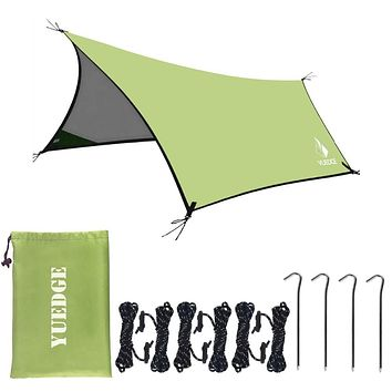 10x13 Ft Portable Tent Tarp Hammock Rain Fly Instant Shelter Sunshade For Camping Backpacking tents outdoor camping (Army Green)