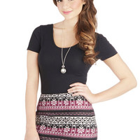 ModCloth Short Mini Frost in Thought Skirt