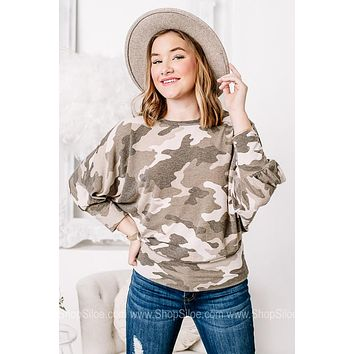 In The Name Of Love Camo Top