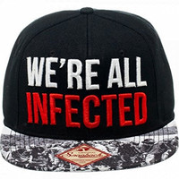 "The Walking Dead ""WE'RE ALL INFECTED"" Snapback Baseball CAP/ HAT"
